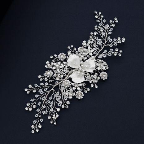 woven bridal headdress Korean pearl hair clip pearl rhinestone side clip fashion wedding bridal hair clips women NHHS229714's discount tags