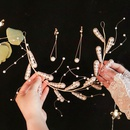 handmade pearl hairband earrings set bridal studio photo hair accessories wholesale nihaojewelry NHHS229717