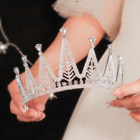 fashion jewelry full diamond crown birthday party goddess crown bride wedding dress headdress  wholesale nihaojewelry NHHS229719's discount tags