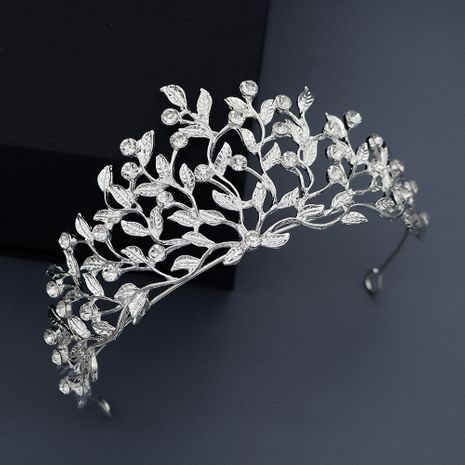 Korean wedding bride headdress olive branch alloy rhinestone wedding crown birthday party dress hair accessories NHHS229728's discount tags