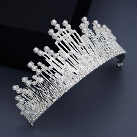 Baroque high-end custom wedding headdress luxury atmospheric pearl crown birthday party crown headband NHHS229730's discount tags