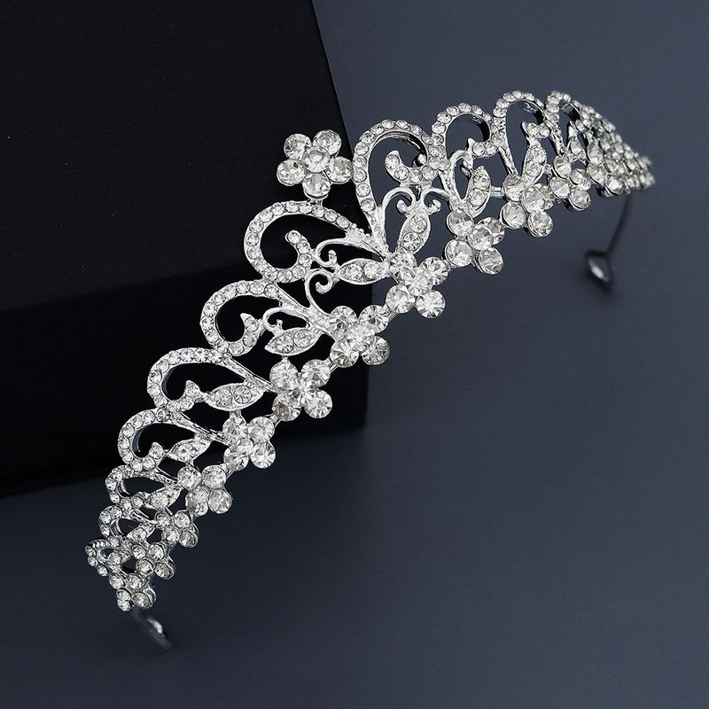 highend bridal headdress princess crown alloy rhinestone hollow crown wedding dress jewelry NHHS229731