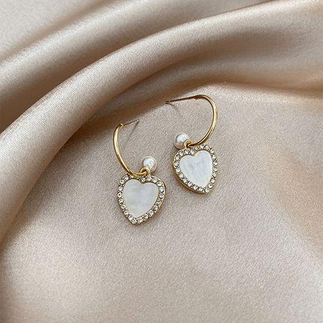 Boucles d'oreilles simples d'amour nouvelles boucles d'oreilles S925 boucles d'oreilles en argent en gros nihaojewelry NHXI229761's discount tags