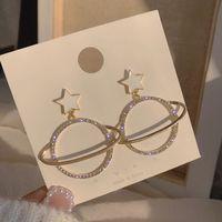 Pendientes de diamantes de imitación de moda coreana pendientes de gota de aceite feminidad al por mayor nihaojewelry NHXI229783