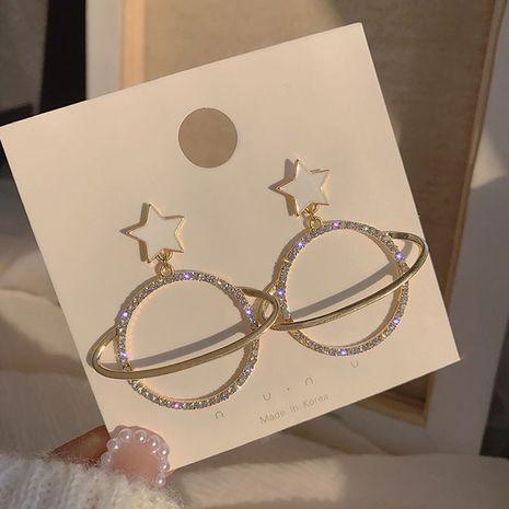 Pendientes de diamantes de imitación de moda coreana pendientes de gota de aceite feminidad al por mayor nihaojewelry NHXI229783's discount tags