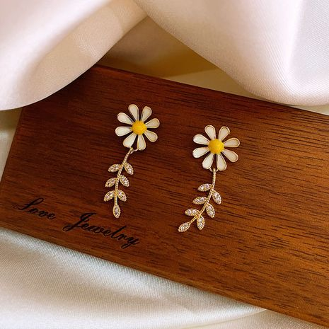 fashion korean Daisy new trendy simple small earrings wholesale nihaojewelry NHXI229787's discount tags