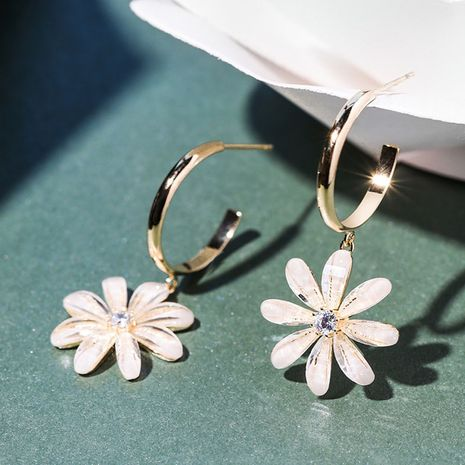 new fashion fairy flower earrings 925 silver needle personalized earrings wholesale nihaojewelry NHXI229796's discount tags