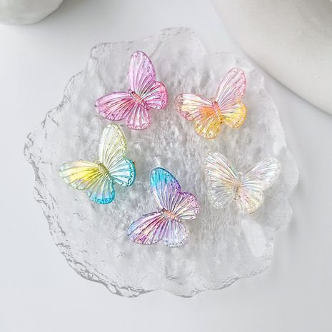 Butterfly headdress girl colorful butterfly hair clip wholesale nihaojewelry NHMS229832's discount tags