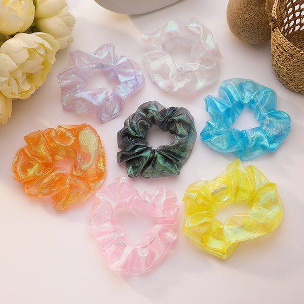 Color hair scrunchies mermaid hair ring sweet forest hair rope girl root large intestine ring French head rope hair accessory wholesale nihaojewelry NHMS229838