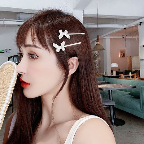 Little fairy hair accessories Korean small butterfly side clip girl side bangs hair wholesale nihaojewelry NHMS229851's discount tags