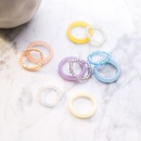 Candy color two sets of rings simple and transparent acrylic index finger ring wholesale nihaojewelry NHMS229853