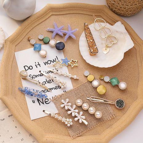 pince à cheveux 8 ensembles de pince à fée coréenne pince à cheveux fille frange clip en gros nihaojewelry NHMS229877's discount tags