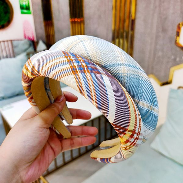 Korean super simple lattice hair hoop flat press hairpin fashion high-end hair hoop wholesale nihaojewelry NHUX229944
