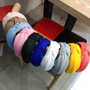 Korea's new milk milk thickening sponge high-end fabric hairpin headband wholesale nihaojewelry NHUX229949's discount tags