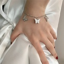 Korean butterfly motherofpearl micro inlaid bracelet simple jewelry wholesale nihaojewelry NHYQ229965