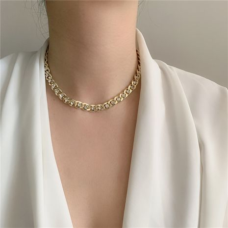 metal chain diamond choker clavicle neck chain bracelet jewelry wholesale nihaojewelry NHYQ229982's discount tags