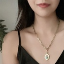 jewelry simple golden chain drip glaze tulip tag necklace bracelet ring wholesale nihaojewelry NHYQ229984