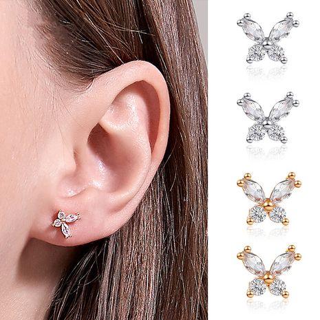 Coréen simple super fée cristal petit papillon boucles d'oreilles haute sens des boucles d'oreilles en zircon sauvage en gros nihaojewelry NHDP229567's discount tags