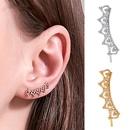 new single heartshaped hollow earrings simple love ear bone clip fashion creative earrings wholesale nihaojewelry NHDP229571