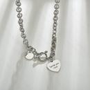 rtro nouveaux produits vente chaude titane acier hip hop coeur pendentif collier en gros nihaojewelry NHHF229576