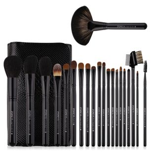 hot sale 21 sets of high-end makeup brushes crocodile skin texture wool and wooden handle wholesale nihaojewelry NHAY229586's discount tags