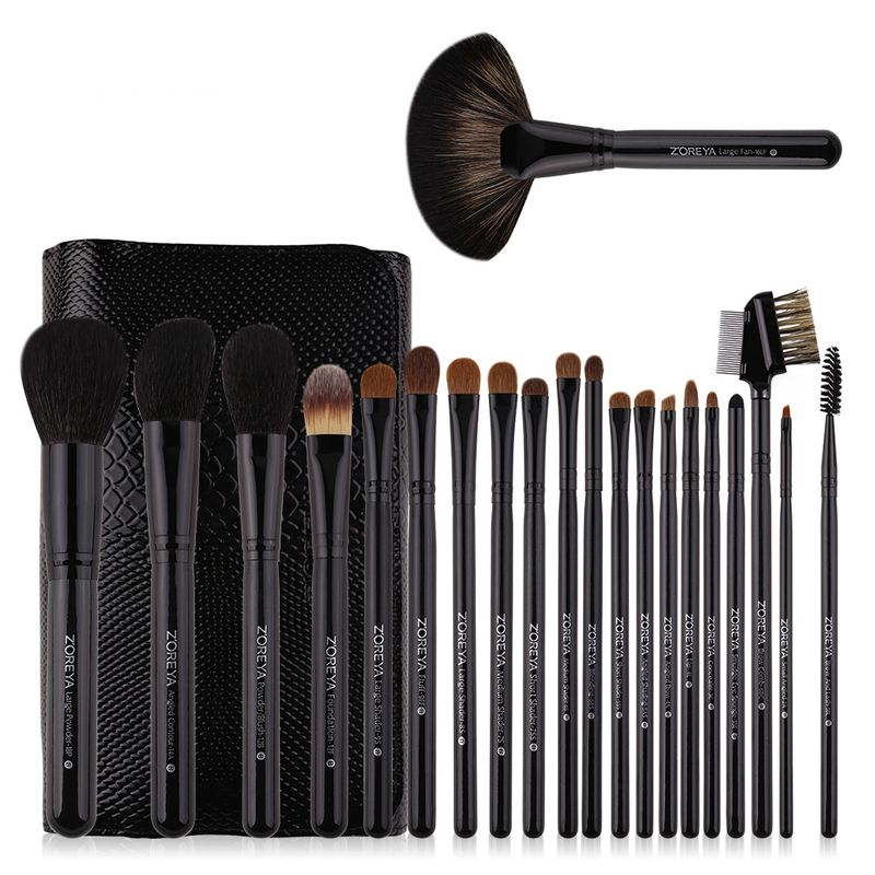 hot sale 21 sets of highend makeup brushes crocodile skin texture wool and wooden handle wholesale nihaojewelry NHAY229586