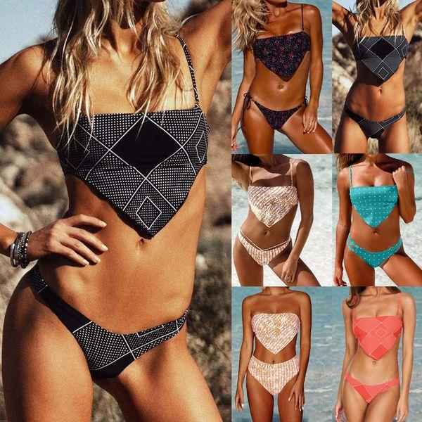 new swimwear  fashion Bohemian style  digital printing  skirts ladies  swimsuit split bikini  nihaojewelry wholesale NHHL222040