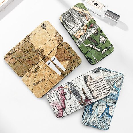 wallet map coin purse creative magic bag Japanese style handmade wallet bright wallet small gift bag wholesale nihaojewelry NHBN222075's discount tags