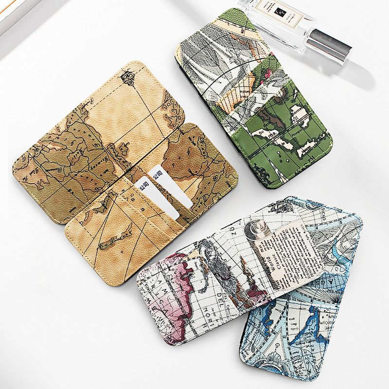 wallet map coin purse creative magic bag Japanese style handmade wallet bright wallet small gift bag wholesale nihaojewelry NHBN222075