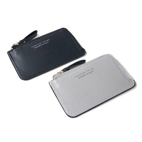 Mode coréenne nouveau portefeuille à glissière créatif porte-monnaie portefeuille court portefeuille carte de visite sac portefeuille ultra-mince nouveaux produits en gros nihaojewelry NHBN222076's discount tags