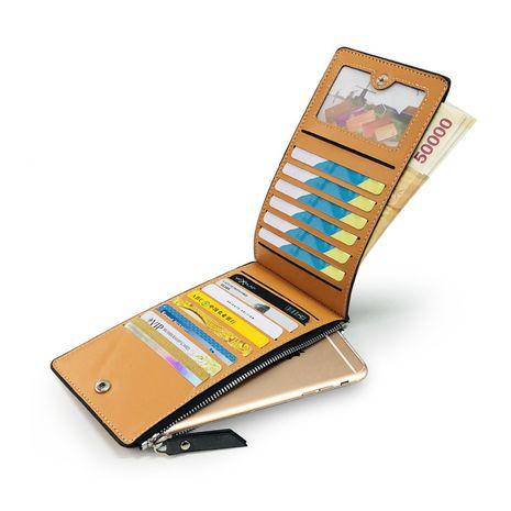 Nouvelle fermeture à glissière long portefeuille dames porte-monnaie mode multi-carte position PU portefeuille téléphone portable sac nouveau portefeuille en gros nihaojewelry NHBN222077's discount tags