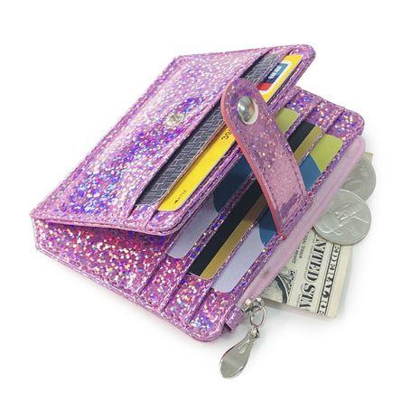 Mode coréenne nouveau créatif laser porte-monnaie portefeuille fermeture éclair carte sac boucle carte manches en gros nihaojewelry NHBN222081's discount tags