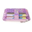 Korean fashion new creative laser coin purse wallet zipper card bag buckle card sleeve wholesale nihaojewelry NHBN222081