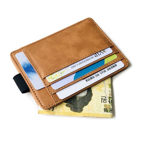 Korean fashion elastic band card package creative wallet men's driving license card holder card holder PU coin purse discount hot sale wholesale nihaojewelry NHBN222082's discount tags