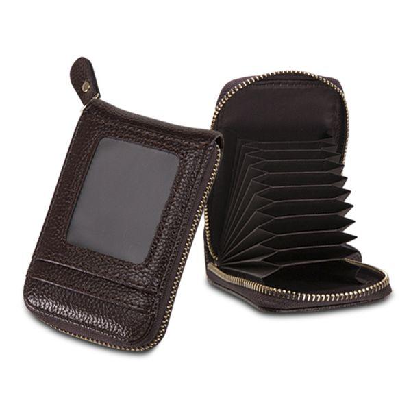 new PU certificate bag ladies organ card bag multi card position zipper coin purse card sleeve wholesale nihaojewelry NHBN222084