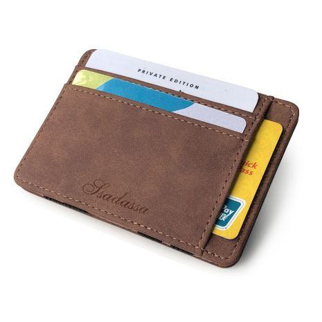 Korean fashion wild creative models matte leather magic wallet card package zipper coin purse men's wallet wholesale nihaojewelry NHBN222092's discount tags