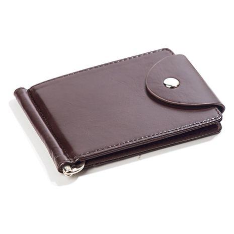 New PU Leather Wallet Short Fashion Men's Wallet Korean Buckle US Money Wallet Document Wallet wholesale nihaojewelry NHBN222093's discount tags