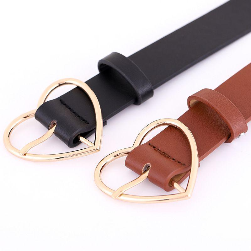 Explosion fashion decorative jeans belt wild casual women's belt love pin buckle belt spot wholesale nihaojewelry NHPO222098