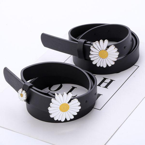 New small daisy flower decoration belt student fashion dress jeans ladies thin belt wholesale nihaojewelry NHPO222100
