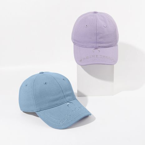 Pequeña letra bordado gorra lila gorra de béisbol estudiante calle sombra gorra personalizada al por mayor nihaojewelry NHTQ222127's discount tags