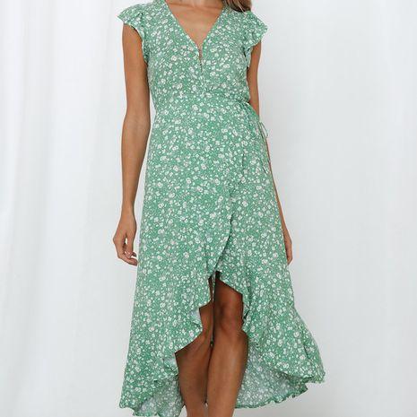 new bohemian print sexy swing irregular dress wholesale nihaojewelry NHYF222145's discount tags