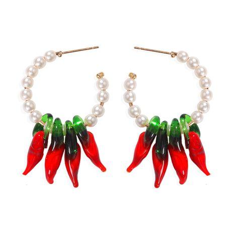 Bohème rouge chili perle créative mode boucles d'oreilles perles boucles d'oreilles en gros nihaojewelry NHJQ229990's discount tags