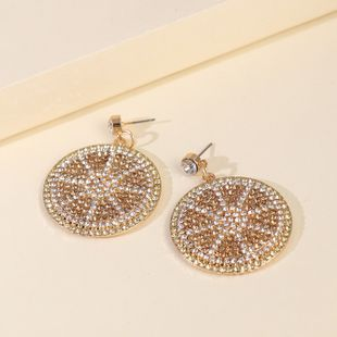 New Products Fashion Big Earrings Simple Geometric Diamond Pendant Earrings wholesale nihaojewelry NHJJ229993's discount tags