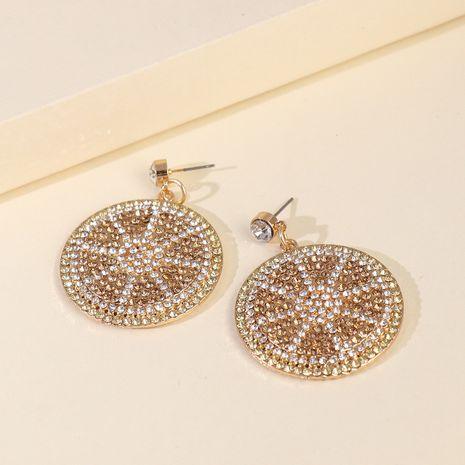 Nouveaux produits de mode grandes boucles d'oreilles simples géométriques diamant pendentif boucles d'oreilles en gros nihaojewelry NHJJ229993's discount tags