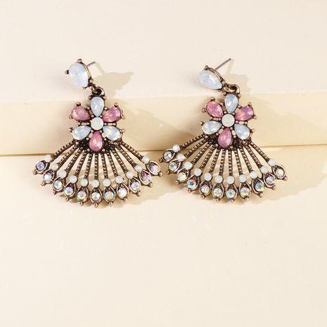 Vente chaude Secteur Creux Alliage Pendentif Boucles D'oreilles Rétro Accessoires De Mode en gros nihaojewelry NHJJ229996's discount tags