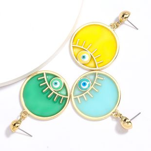 hot sale round alloy resin dripping earrings wholesale nihaojewelry NHJE230005's discount tags