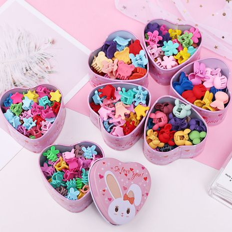 Cute girl baby love boxed cartoon hair clip small grab clip sweet girl side clip hair accessories wholesale nihaojewelry NHNA230013's discount tags