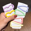 candy color paint triangle peach heart hair clip cute smooth Morandi love bangs hair clip jewelry wholesale nihaojewelry NHNA230040