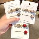 Korean elegant simple rhinestone hair clip set girl bangs clip hair accessories wholesale nihaojewelry NHNA230054