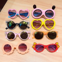New children's cartoon sunglasses shade sunscreen sunscreen simple candy color girls baby glasses toys NHNA230069